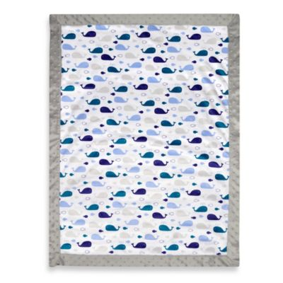 Just Born® Valboa Blanket in Whale Print