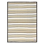 Just Born® Sweater Knit Blanket in Brown Stripe