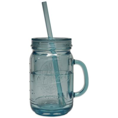 O2-Cool® Mason Jar 20-Ounce Beverage Tumbler w/ Freezer Gel and Stir Straw