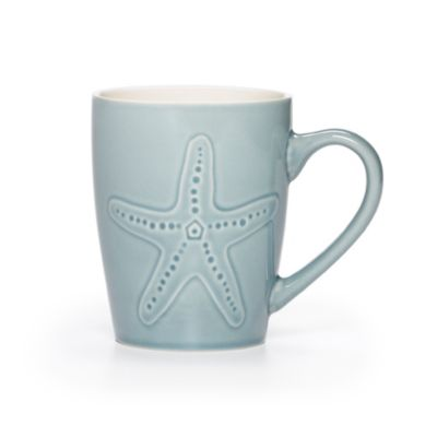 Pfaltzgraff Coastal Starfish Mug in Light Blue