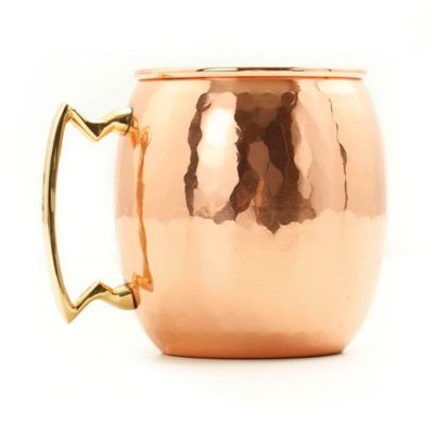 Old Dutch 16-Ounce Moscow Mule Mug with Hammered Finish in Copper