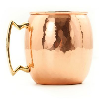 Old Dutch 24-Ounce Moscow Mule Mug with Hammered Finish in Solid Copper