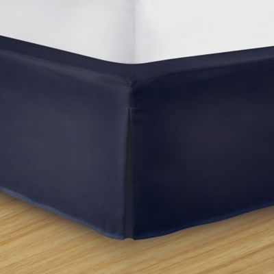 Wrap-Around Wonderskirt Queen Bed Skirt in Navy