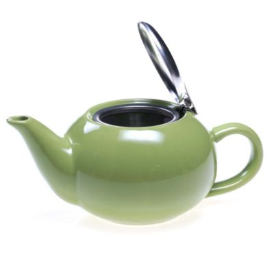 Certified International 17 Ounce Solid Teapot In Green