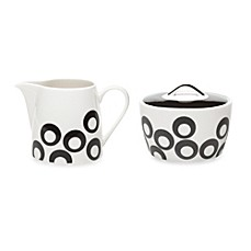 Mikasa® Circle Chic Black 3.7-Inch Sugar Bowl & Creamer
