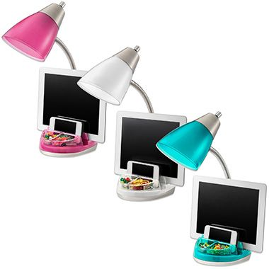 Equip Your Space CFL Organizer Desk Lamp