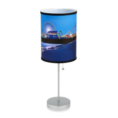 Santa Monica Pier Table Lamp with Silver Finish Base