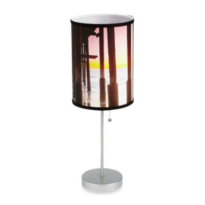 Ventura Pier Table Lamp with Silver Finish Base
