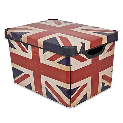 curver deco stockholmline british flag storage box. Black Bedroom Furniture Sets. Home Design Ideas