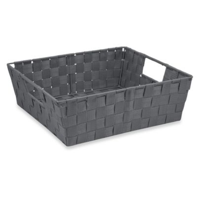 Shelf Woven Storage Tote in Grey