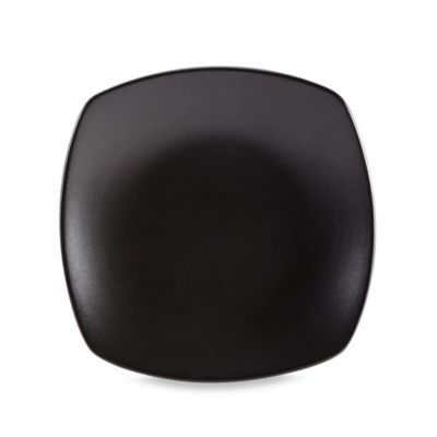Gibson Home Paradiso Couple Square Dinner Plate in Black