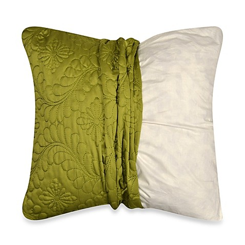 Myop Throw Pillow Covers : MYOP Pucker Quilted Square Throw Pillow Cover in Apple Green - Bed Bath & Beyond