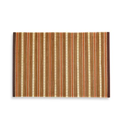 Bamboo Placemat with Orange Stripe