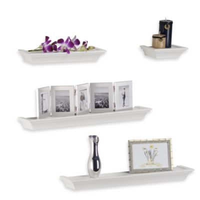 Four-Piece White Ledge Set
