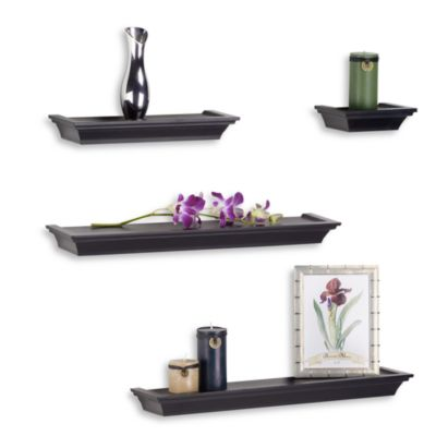 Four-Piece Black Ledge Set