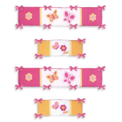Orange Baby Crib Bumpers