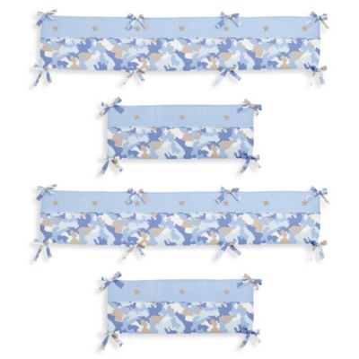 Sweet Jojo Designs Camo Crib Bumper in Blue