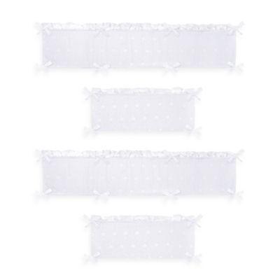 Sweet Jojo Designs Eyelet 4-Piece Crib Bumper in White