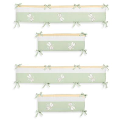 Sweet Jojo Designs Dragonfly Dreams Crib Bumper in Green