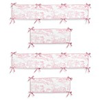Sweet Jojo Designs Pink French Toile Crib Bumper