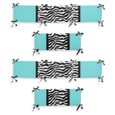 Funky Zebra Crib Bumper