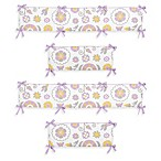 Sweet Jojo Designs Suzanna Crib Bumper in Lavender/White