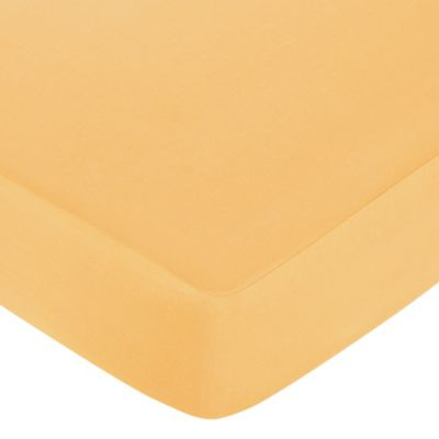 Orange Baby Crib Fitted Sheet