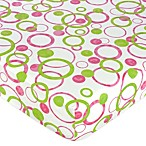 Sweet Jojo Designs Mod Circles Fitted Crib Sheet in Multi