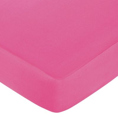 Sweet Jojo Designs Mod Circles Fitted Crib Sheet in Hot Pink