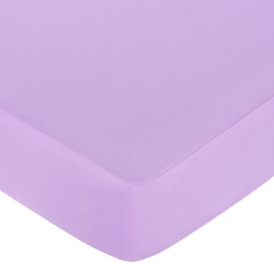 Sweet Jojo Designs Danielle's Daisies Collection Fitted Crib Sheet in Light Purple