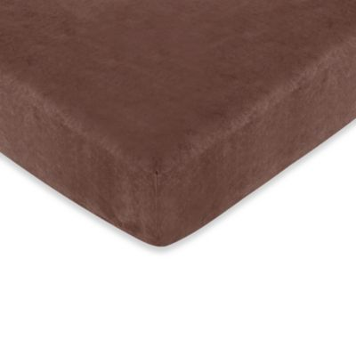 Sweet Jojo Designs Ethan Collection Fitted Crib Sheet in Espresso Brown