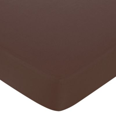 Sweet Jojo Designs Geo Fitted Crib Sheet in Brown