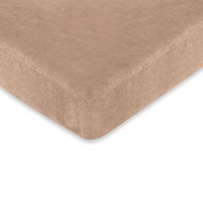 Sweet Jojo Designs Monkey Time Crib Fitted Sheet in Camel
