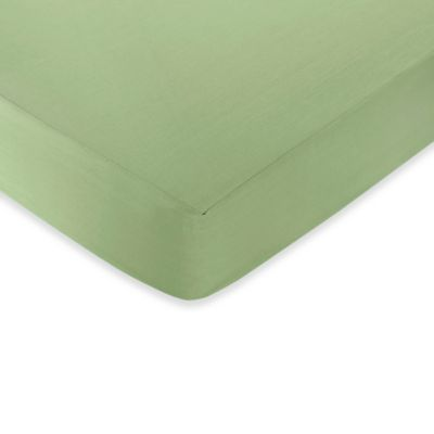 Sweet Jojo Designs Monkey Time Fitted Crib Sheet in Avocado Green