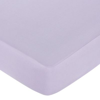 Sweet Jojo Designs Dragonfly Dreams Fitted Crib Sheet in Purple