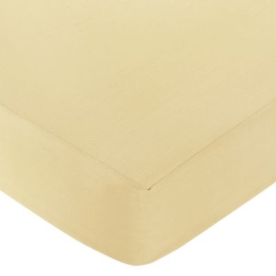 Sweet Jojo Designs Dragonfly Dreams Fitted Crib Sheet in Yellow