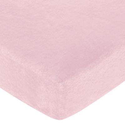 Sweet Jojo Designs Soho Fitted Crib Sheet in Pink Microsuede