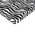 Sweet Jojo Designs Purple Funky Zebra Collection Fitted Crib Sheet in Zebra Print