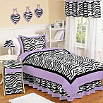 Sweet Jojo Designs Funky Zebra Bedding Collection in Purple