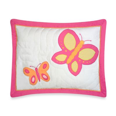 Sweet Jojo Designs Butterfly Standard Pillow Sham Cover