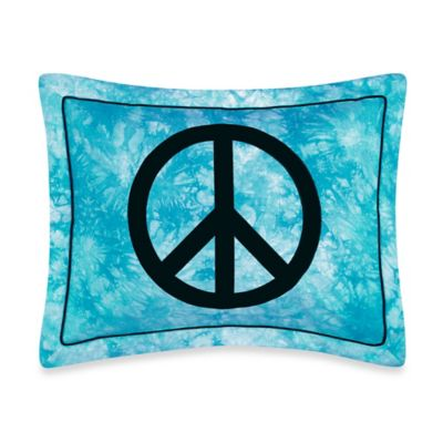 Sweet Jojo Designs Peace Out Standard Pillow Sham in Blue