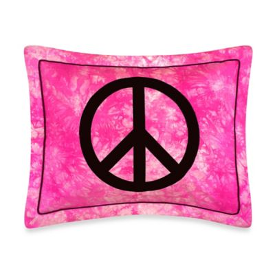 Sweet Jojo Designs Peace Out Standard Pillow Sham in Pink