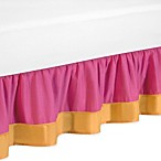 Sweet Jojo Designs Pink and Orange Butterfly Toddler Bed Skirt