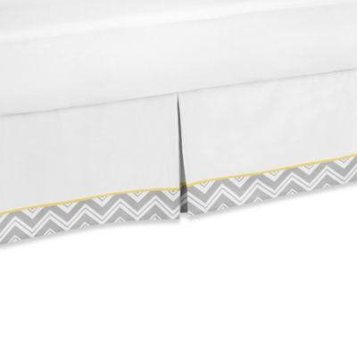 Sweet Jojo Designs Zig Zag Toddler Bed Skirt in Grey/Yellow