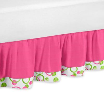 Hot Pink Bed Skirt