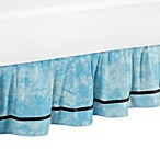 Sweet Jojo Designs Peace Out Queen Bed Skirt in Blue