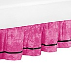 Sweet Jojo Designs Peace Out Queen Bed Skirt in Pink
