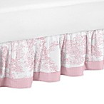 Sweet Jojo Designs Toile Queen Bed Skirt in Pink