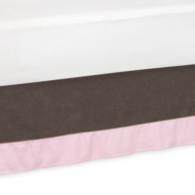 Sweet Jojo Designs Soho Queen Bed Skirt in Pink/Brown