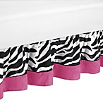 Sweet Jojo Designs Funky Zebra Queen Bed Skirt in Pink